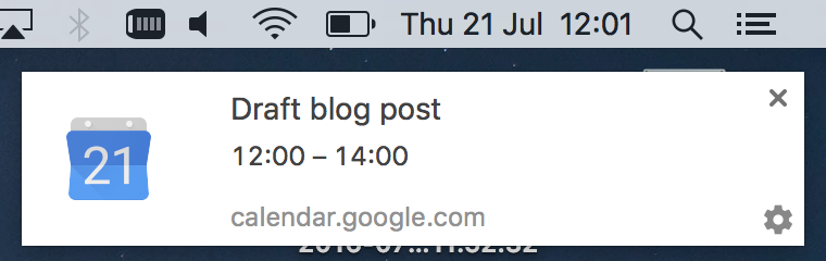 calendar reminder to draft blog post developer productivity tools