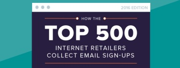how the top 500 internet retailers collect email sign-ups 2016 banner