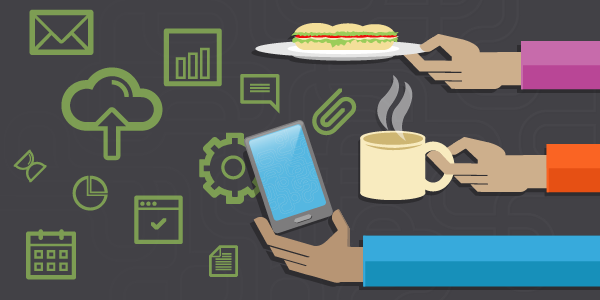 Growth Hacker Smart Phone Coffee Sandwich