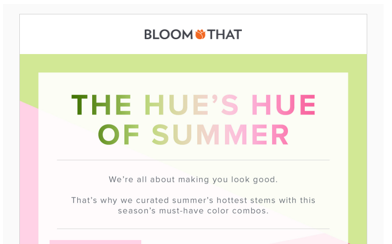 bloomthat summer email campaign