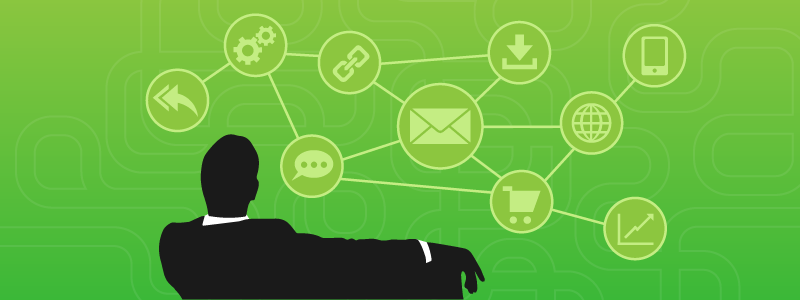user engagement green background black silhouette 800x300