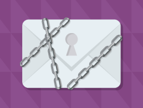 encrypted messages purple background white envelope 360x274