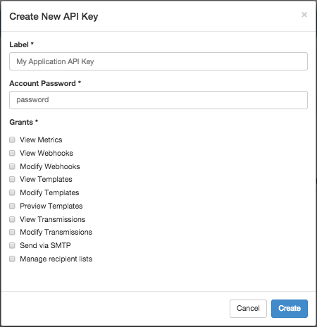 Create New API Key