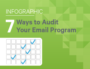7 Ways to Audit Your Email Program [Infographic]