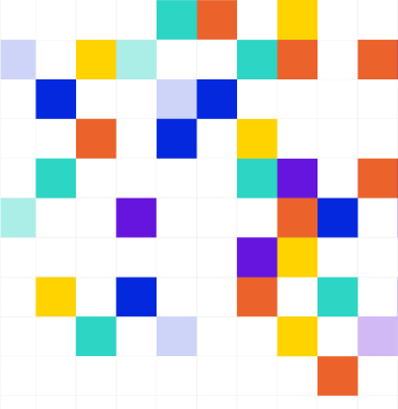 Image showing Taxi for Email artwork of multi-coloured squares for the Email Design System guide